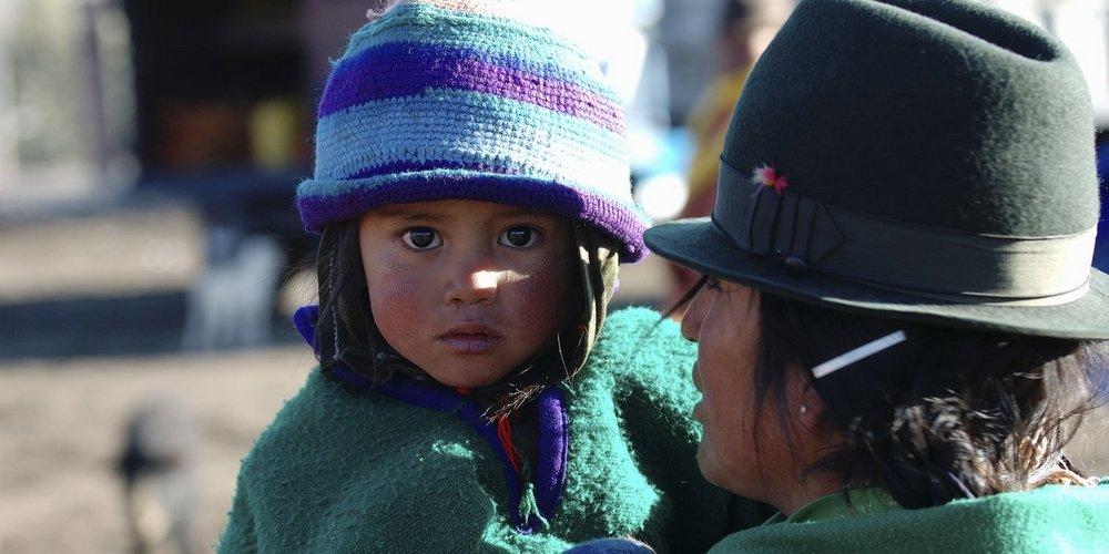 Beestenmarkt Ecuador bevolking
