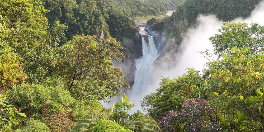 Hoogtepunten Banos Ecuador waterval